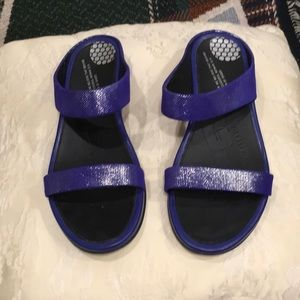 Fitflop all leather sandals with shimmer
